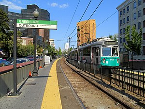 MBTA 3706 at Longwood Medical Area station, September 2012.JPG