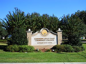 Mississippi Gulf Coast Community College - Image: MGCCC Jeff Davis Campus Sign