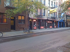 MacDougal Street in Greenwich Village, New Yor...