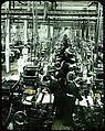 Machine-weaving in factory. (19762209610).jpg