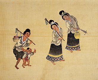 Longjia people - Qing Dynasty-era painting of Madeng Longjia (马镫龙家) people