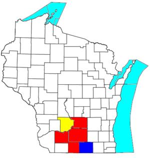 Madison, Wisconsin, metropolitan statistical area - Image: Madison Janesville Beloit CSA