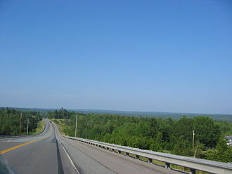 Maine State Route 9 - Maine State Route 9 east of Bangor.