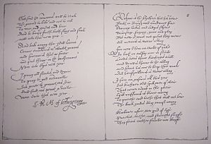 Richard Maitland - Pages from The Maitland Quarto Manuscript held by the Pepys Library. Maitland's signature is prominent.