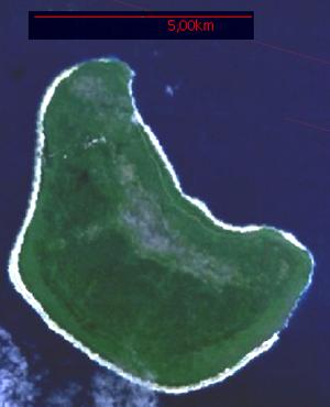 Makatea - Satellite Image of Makatea Island