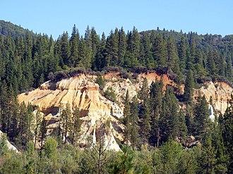 Malakoff Diggins State Historic Park - Canyon wall created by hydraulic mining at Malakoff Diggins State Historic Park