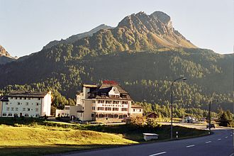 Stampa - Maloja Pass and Hotel Kulm