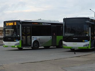 Transport in Malta - Modern buses at Valletta City Gate Bus Station