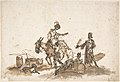 Man Assisting a Woman to Mount a Horse, with Two Other Figures and a Dog MET DP807980.jpg