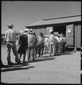 Manzanar Relocation Center, Manzanar, California. Evacuees of Japanese ancestry at this War Relocat . . . - NARA - 537970.tif