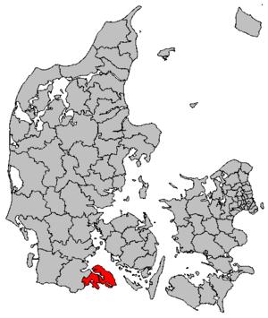 Sønderborg Municipality - Image: Map DK Sønderborg