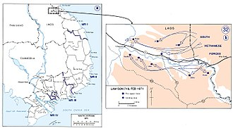 Operation Lam Son 719 - Image: Map Lam Son 719