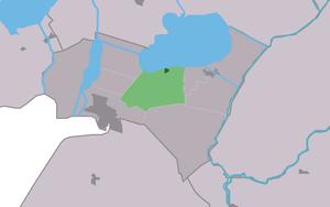 Oosterzee - Image: Map NL Lemsterlân Eastersee