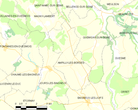 Mapa obce Ampilly-les-Bordes