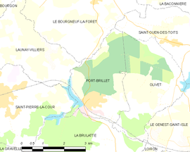 Mapa obce Port-Brillet