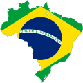 Map of Brazil with flag.svg