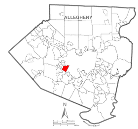 Map of Greentree, Allegheny County, Pennsylvania Highlighted.png