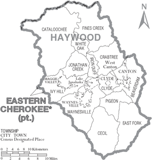 Haywood County, North Carolina - Map of Haywood County, North Carolina With Municipal and Township Labels