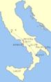 Map of Marcus Caelius Rufus's rebellion in Italia 48BC ja.png