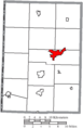 Map of Mercer County Ohio Highlighting Celina City.png