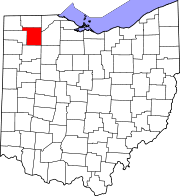 Map of Ohio highlighting Henry County