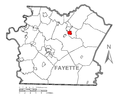 Map of South Connellsville, Fayette County, Pennsylvania Highlighted.png