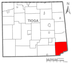 Map of Tioga County Pennsylvania Highlighting Union Township.PNG