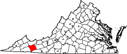 Map of Virginia highlighting Smyth County.svg