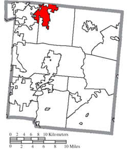 Location of Springboro in Warren County