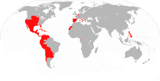 Colonial empire - Image: Map of the Spanish Empire