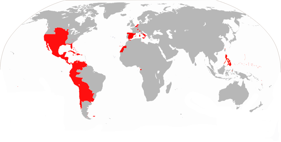 Map of the Spanish Empire