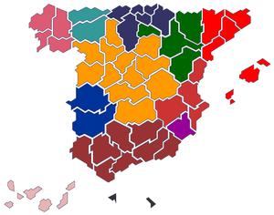 Mapa confederal de la CNT