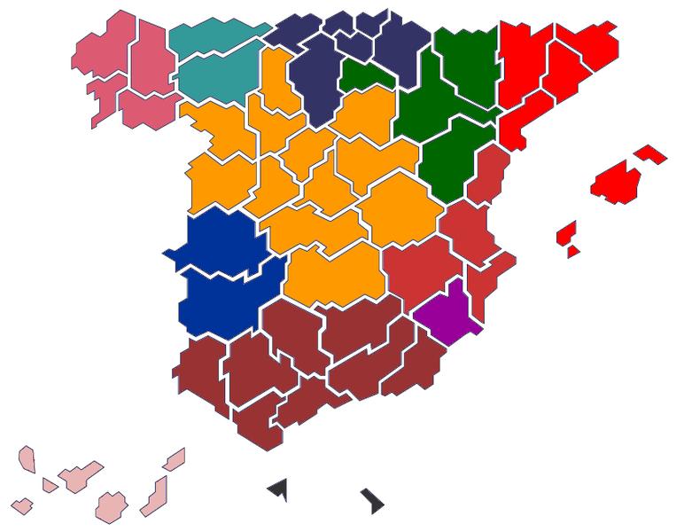 Estructura territorial. 763px-Mapa_confederal_CNT