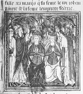 Maria of Montferrat - Coronation of Maria and John