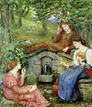 Marie Spartali Stillman - By a Clear Well with a Little Field.jpg