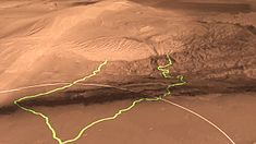 Fichier:Mars Science Laboratory Landing Site Gale Crater.ogv