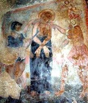 Febronia of Nisibis - Martyrdom of St. Febronia, from Byzantine Monastery of St. Febronia, Palagonia.