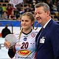 Martyna Grajber gets MVP, December 2017.jpg