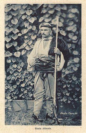 Dukagjin highlands - Image: Marubi photograph man from Shala