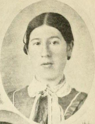 Arthur A. Denny - Mary Ann Boren, wife of Arthur A. Denny, copied for his book from a daguerreotype. The caption was confusing and this might be her sister Louisa Boren. See David Denny.
