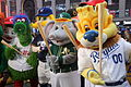 Mascots having fun outside the Good Morning America set. (26145885146).jpg