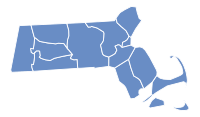 Massachusetts Election Results by County, all Democratic.svg