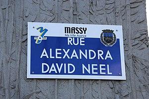 Alexandra David-Néel - Road named Alexandra David-Néel in Massy, Essonne, suburb of Paris.