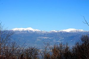 Matese - Monte Miletto and La Gallinola from the Campanian side