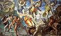 Matteo da Lecce - Disputa junto al cuerpo de Moisés (Capilla Sixtina, Roma, 1572-85).jpg