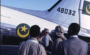 Military of Mauritania - Mauritanian Douglas C-47A Dakota in the Sahara.