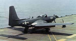 USS Saipan (CVL-48) - FH-1 Phantom of VF-17A on USS Saipan, May 1948.