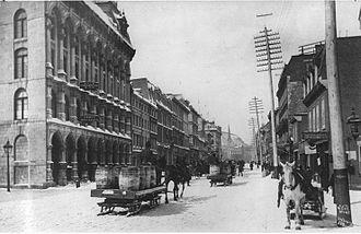 McGill Street (Montreal) - McGill Street in 1869.