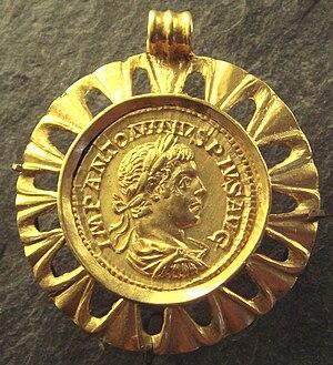 Elagabalus - Medal of Elagabalus, Louvre Museum.