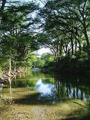 Medina River - Medina River near Bandera, Texas